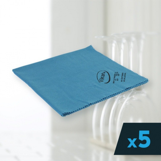 Pack de 5 microfibres spéciales vitres