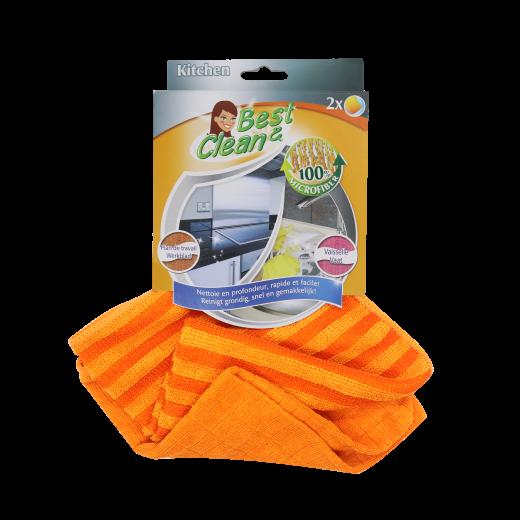 Kit de deux lavettes en microfibres spéciales cuisine de Best Clean