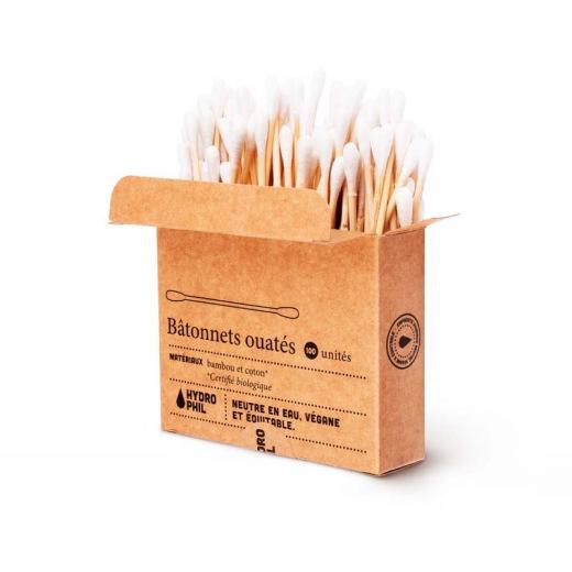Cotons tiges en bambou sans plastique de Hydrophil