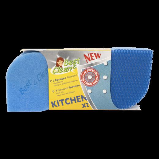 Eponge vaisselle grattante sans griffe pour la cuisine