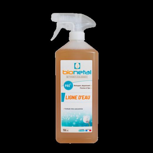 Produit nettoyant écologique pour ligne d'eau de piscine en spray ou en bidon