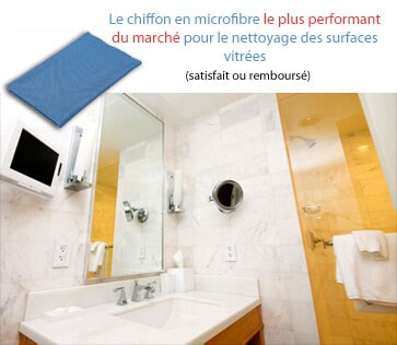 Chiffon en microfibre sp cial nettoyage des vitres actex vikan - Nettoyer une table en verre sans trace ...