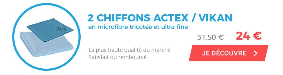2 chiffons microfibres de la plus haute qualité à prix réduit