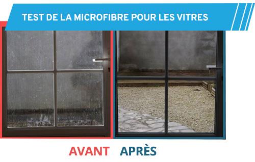 Test pour le nettoyage d'une vitre