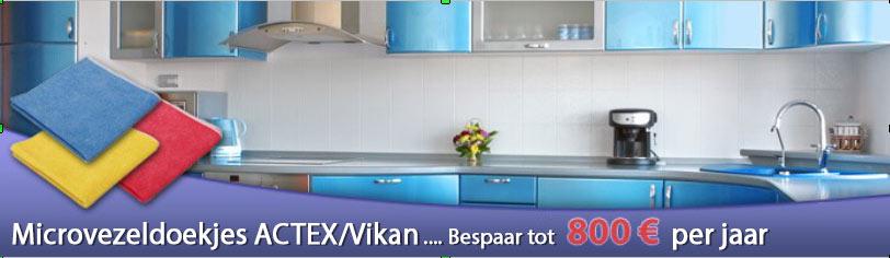 Microvezeldoekjes ACTEX/Vikan … Bespaar tot 800€ per jaar